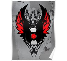 Retro PUNK ROCK Vinyl Record Art - Tribal Spikes and Wings - Cool Music Lover DJ T-Shirt Prints Notebook and Stickers Poster