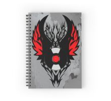Retro PUNK ROCK Vinyl Record Art - Tribal Spikes and Wings - Cool Music Lover DJ T-Shirt Prints Notebook and Stickers Spiral Notebook