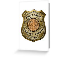 Brute Squad Thieves' Forest Badge Greeting Card