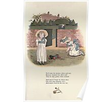 LIttle Ann and Other Poems by Jane and Ann Taylor art Kate Greenaway 1883 0055 Come Play in the Garden Poster