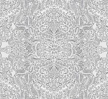 Frost & Ash - an Art Nouveau Inspired Pattern by micklyn
