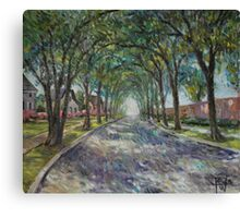 Along The Azalea Trail Canvas Print