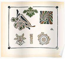 Maurice Verneuil Georges Auriol Alphonse Mucha Art Deco Nouveau Patterns Combinaisons Ornementalis 0020 Poster