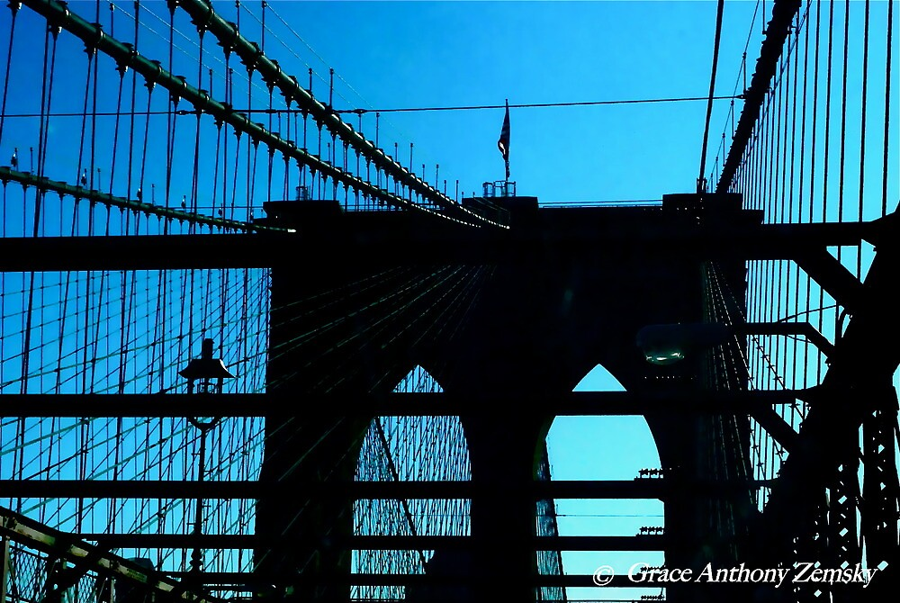 Roeblings' Legacy - The Brooklyn Bridge by Grace Anthony Zemsky