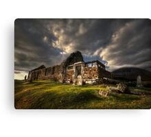 Kirk at Cill Chriosd, ( Kilchrist ) . Isle of Skye, Scotland. Canvas Print
