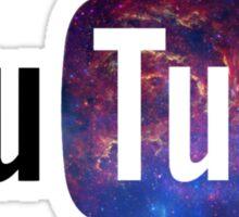 Cosmic YouTube Logo Sticker
