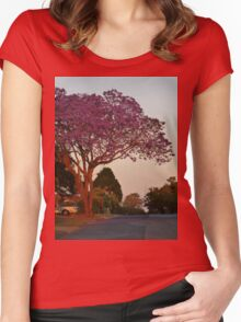 Jacaranda at sunset Women's Fitted Scoop T-Shirt