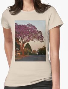 Jacaranda at sunset Womens Fitted T-Shirt