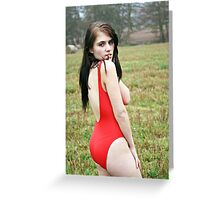 Red Swimsuit Greeting Card