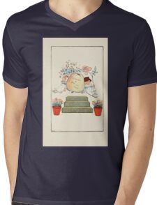 Mother Goose or the Old Nursery Rhymes by Kate Greenaway 1881 0009 Dedication Mens V-Neck T-Shirt