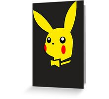 Pikachu pokemon playboy bunny parody Greeting Card