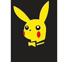 Pikachu pokemon playboy bunny parody Photographic Print