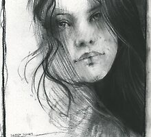 charcoal drawing for print by djones