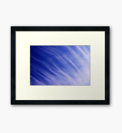 Nature's blue Framed Print