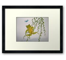 fun frogs 1. Framed Print
