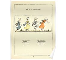 Marigold Garden Pictures and Rhymes Kate Grenaway 1900 0049 Little Jumping Girls Poster
