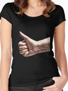 A Big Thumbs Up Women's Fitted Scoop T-Shirt