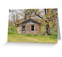 Rock House From the Past Greeting Card