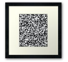 Loose Pattern in Black and White Framed Print