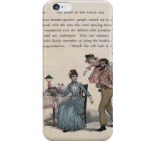 The Queen of Pirate Isle Bret Harte, Edmund Evans, Kate Greenaway 1886 0060 Struck Old Lead at Last iPhone Case/Skin