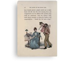 The Queen of Pirate Isle Bret Harte, Edmund Evans, Kate Greenaway 1886 0060 Struck Old Lead at Last Canvas Print