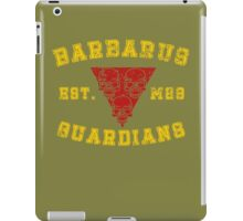 Sports Team: The Barbarus Guardians iPad Case/Skin