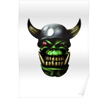 Orc Head Poster