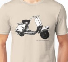 A Casual Classic iconic Vespa scooter inspired design Unisex T-Shirt