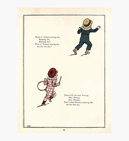 Under the Window Pictures and Rhymes for Children Edmund Evans and Kate Greenaway 1878 0058 Tommy and Jimmy Photographic Print