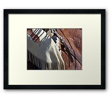 The Wild West - Tooled Leather Framed Print
