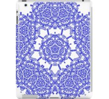 Floral Damask Indigo Blue And White  iPad Case/Skin