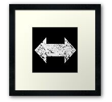 Support Arrows Wht Warn Framed Print