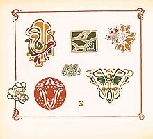 Maurice Verneuil Georges Auriol Alphonse Mucha Art Deco Nouveau Patterns Combinaisons Ornementalis 0044 by wetdryvac