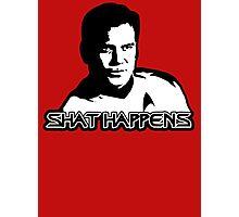 WIlliam Shatner (Captain Kirk Star trek) Shat happens Photographic Print
