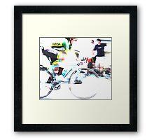 Riding on Speed  Framed Print
