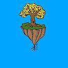 The Earth is Beautiful - Tree Floating by bleedart