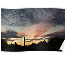 Mother Nature Painted the Sky Over Washington, DC Spectacular Poster