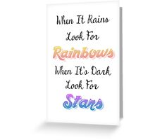 When It Rains Quote Greeting Card