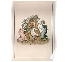 Kate Greenaway Almanack 1893 0024 July Hay Poster