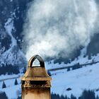 Chimney in the Alps, Switzerland by buttonpresser