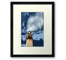 Chimney in the Alps, Switzerland Framed Print