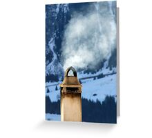 Chimney in the Alps, Switzerland Greeting Card