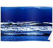Into the Deep Blue.....Pacific Ocean Mexico Poster