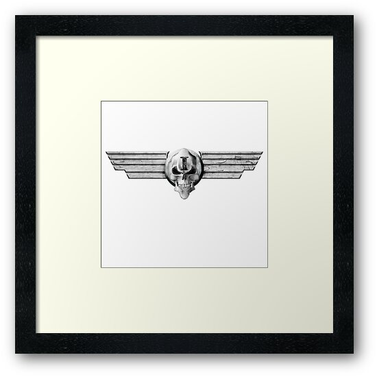 Imperial Skull and Wings - Silver by simonbreeze