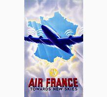 Air France Vintage Travel Poster Restored Unisex T-Shirt