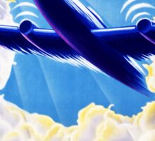 Air France Vintage Travel Poster Restored Sticker