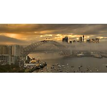 Play Misty  - Sydney Harbour (HDR Panorama) - The HDR Experience Photographic Print