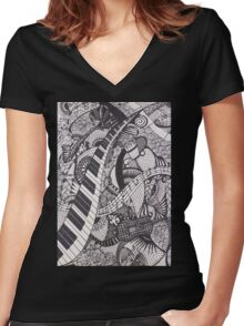 The Audition Women's Fitted V-Neck T-Shirt