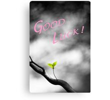 Good Luck Leaves Canvas Print