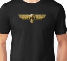 Imperial Skull & Wings - Gold Unisex T-Shirt